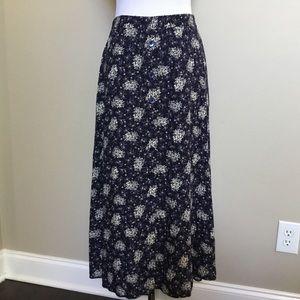 Vintage 90s SUSAN BURROWES prairie Maxi skirt S